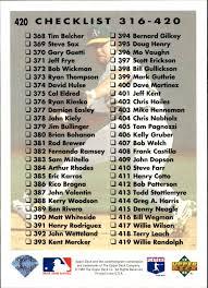 1993 Upper Deck Top Prospect Derek Jeter by 1993 Upper Deck 420 Checklist 316 420 Mcgwire Mint