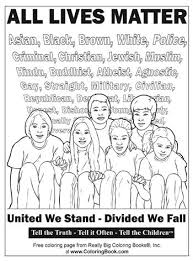ALL LIVES MATTER By Really Big Coloring Books FREE Book And Pages