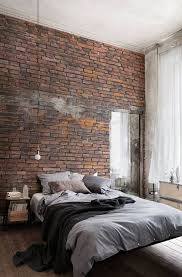 Bedroom Floating Bed With Brick Wall Decor 20 Masculine Bedroom