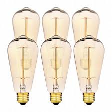 edison light bulbs by deneve deluxe pack 60w magnificent