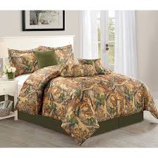 Bed Skirts Queen Walmart by Woodlands 7 Piece Camouflage Comforter Set Over Sized Bedding
