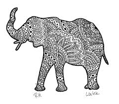 Paisley Elephant Coloring Pages