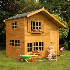 8x6 Wood Storage Shed by 8 X 6 Wooden Cottage Playhouse 2 Storey Shedsfirst
