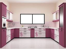 Beautiful Kitchen Decorating Ideas With Good Paint Color And Art Flower On Drawers For Newest Interior Styles