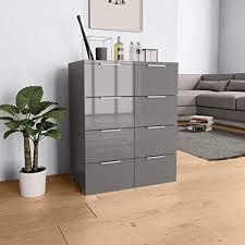 unfadememory sideboard spanplatte kommode schubladenschrank wohnzimmer schrank hochglanzschrank reichlich stauraum lagerschrank hochglanz finish