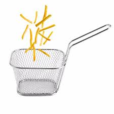 8pcs mesh sink strainer mini fry baskets for fryer stainless steel
