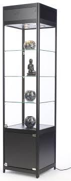 18 diy display case w cabinet base adjustable shelves locking