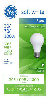 ge lighting 97493 30 watt 70 watt 100 watt a21 3 way soft