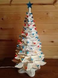 Vintage Atlantic Mold Ceramic Christmas Tree by Huge 25