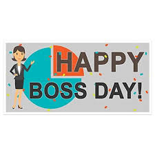 Bosss Day Decorations by Amazon Com Happy Boss Day Banner Party Backdrop Decoration Handmade