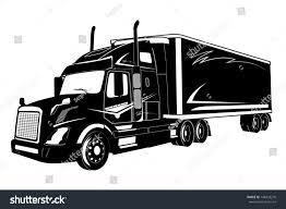 Icon Truck Semi Truck Stock Illustration - Royalty Free Stock ...