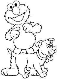 Cute Elmo Coloring Pages