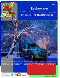 Mvt Newsletter Dec By MVT Services - Issuu Mesilla Valley Transportation Cdl Truck Driving Jobs Abilene Motor Express Truckers Review Pay Home Time Equipment Nm State Football On Twitter Thanks To Trucking For Mvt Mobile Apps Reviews Complaints Youtube Solutions Give Away 42000 In Fuel Efficiency Consulting And Testing Innometric Mpg Us Xpress Proves Reability Of The Tc10 Owner Perfect