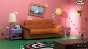 simpsons bis friends ikea baut wohnzimmer aus der tv welt
