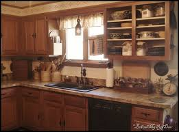 primitive look layout and decorating ideas for kitchen kitchen