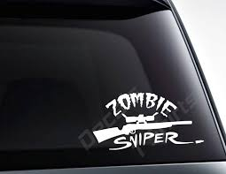 100 Cool Decals For Trucks Zombie Sniper Vinyl Decal Sticker Car Decals Laptop Etsy