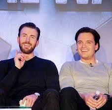 Sebastian Stan And Chris Evans Captain America Civil War Press Tour A