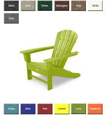 Red Adirondack Chairs Polywood by Polywood Hna15 South Beach Adirondack Chair With Hideaway Ottoman