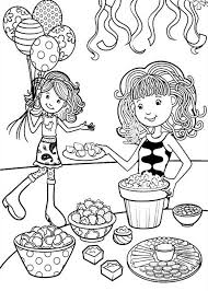 Groovy Girls Paint Flower Pot Coloring Pages