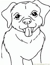 Yellow Lab Dog 650x841 Coloring Page