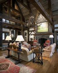 The Open Rafters And Rustic Wood Look Would Be Great For A Germanic Or Skyrim EleganceRustic StyleFamily Room