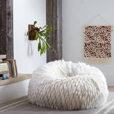 Winter Fox Faux Fur Beanbag Pbteen Pertaining To Bean Bag Chair
