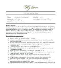 Housekeeping Description For Resume Inspirational Housekeeper Duties Job Operations Of