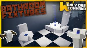Minecraft Pocket Edition Bathroom Ideas by Minecraft Bathroom Fixtures With Only One Command Block Sinks
