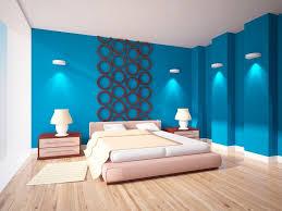 wohnzimmer und schlafzimmer in blau
