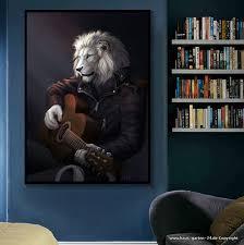 musik mit gitarre poster wohnzimmer wanddekoration