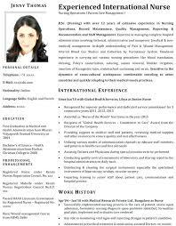 Nursing Assistant Resume Sample Philippines For Nurses Of Nurse Samples Registered Format Rn Objectives Examples