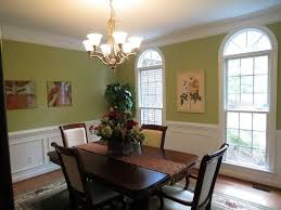 Mid Century Dining Room Ideas With Minimalist Teak Wooden Set Over Sage Green Wall Paint Color