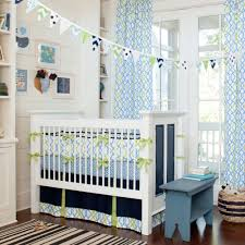 Navy And Coral Crib Bedding by Happy Bright Blue And Green Colors For Baby Boy U0027s Nursery Navy