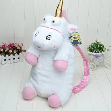 50cm Despicable Me Unicorn Bag Plush Unicorns Toy Backpack Toys For Girls Kids Birthday Gift Cute Backpacks BY0059 In From Luggage Bags On