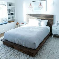 Good Looking Rustic Wood Bed Frame And Headboard Full King