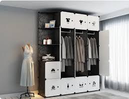 diy einfache schrank montage schrank kunststoff schrank schlafzimmer umkleide schrank lagerung box kleidung schrank kunststoff tuch kleiderschrank