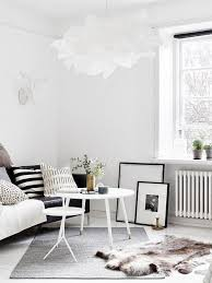 one room apartment for book and scandinavian style