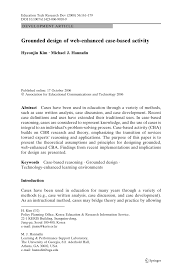 PDF Grounded Design Of Web Enhanced