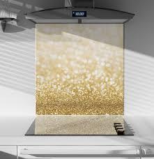 Glass Splashback Glitter Gold