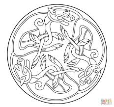 Celtic Ornament Design From Book Of Kells Coloring Page Art Category Select 27390 Printable Crafts Cartoons Nature Animals