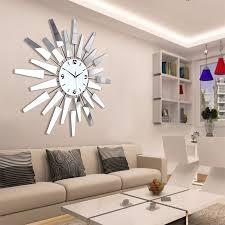 Decorative Wall Clocks For Living Room Silent Quartz Big Clock Frozen