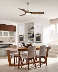 Sleek And Modern The 56 Minimalist Ceiling Fan By Monte Carlo Has Three Balsa Wood Blades With Soft Rounded Lines Inspired A Mid Century Aesthetic