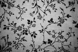 Black On White Floral Print Fabric Texture Picture Free High Resolution Photo