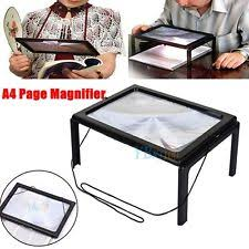 Lighted Full Page Magnifier Lamp by Lighted Reading Magnifier Ebay