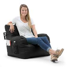 100 Best Bean Bag Chairs For Bad Backs Amazoncom Big Joe 645602 Dorm Chair Stretch Limo Black
