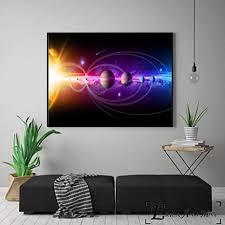 jzxjzx unser sonnensystem 8d kunstwerk leinwand malerei