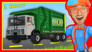 Explore Machines With Blippi   Garbage Trucks And More! – Kids YouTube