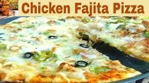 How To Make Chicken Fajita Pizza Recipe In Urdu Hindi