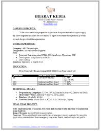 Sample Template For A Fresher Experience Professional Curriculum Vitae With Free Download In Word Doc