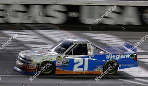 100 Nascar Truck Race Today Johnny Sauter Drives During NASCAR Series Stock Photo